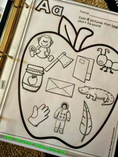 Beginning Sounds, Beginning of Kindergarten, and a Freebie! Beginning Of Kindergarten, Kindergarten Language Arts, Kindergarten Literacy, Beginning Of School, Preschool Learning, Early Literacy, Toddler Learning, Alphabet Phonics, Alphabet Crafts