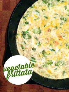 A frugal vegetable frittata that will impress your guests.