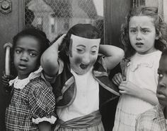 Marvin E. Newman, Halloween, South Side (gelatin silver print), 1951.