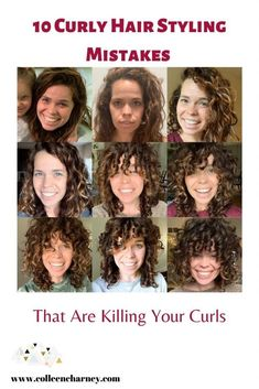 10 Curly Hair Styling Mistakes That Are Killing Your Curls. Check out these daily habit that will give you soft curls. 3a Curly Hair, Wavey Hair, Curly Hair Routine, Curly Hair Styles, Natural Hair Styles, Color For Curly Hair, Natural Wavy Hairstyles, Wavy Hair Care, Medium Hairstyles