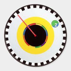 スプロケット ウォールクロック:時を語る、グラフィックデザイン(Milton Glaser) MoMA STOREの通販   モダンでアートなリビング、掛け時計・置時計を通信販売で