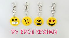 How to make your own Emoji keychains! Products I used: Sculpey III polymer clay in yellow Acrylic paints in white, black & red Fimo Gloss Varnish Other place...