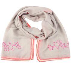 NEW: Metalhead studded NEON summer scarf (grey/pink)