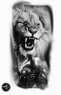 Spartan Tattoo espartano – Spartan Tattoo espartano – This image has get. Lion Head Tattoos, Wolf Tattoos, Animal Tattoos, Leg Tattoos, Body Art Tattoos, Tattoos For Guys, Sleeve Tattoos, Gladiator Tattoo, Hals Tattoo Mann