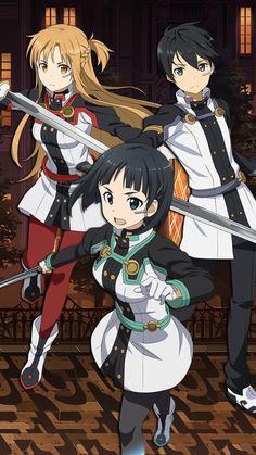 Kirito et Asuna et Leafa de sword art online ordinal scale