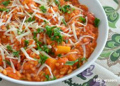 Roasted Buttnernut Squahs and Tomato Risotto