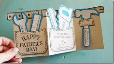 más y más manualidades: 15 originales tarjetas para el día del padre