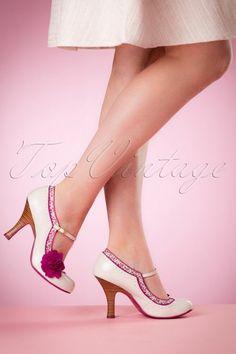 Ruby Shoo Poppy Ladies Shoes Ivory Floral 402 50 16818 02242016 003W kopie