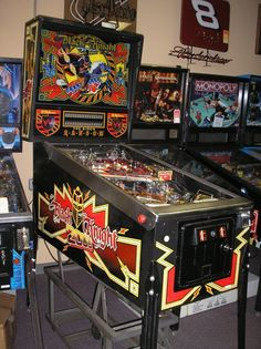 Becky is requesting a pinball machine in my garage fantasy. This game would be my first choice. I racked up some impressive scores and dumped hundreds of dollars in one of these at Beach and Warner Arcade in the late 80's/early 90's.
