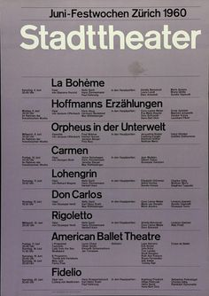 Juni–Festwochen 1960    Design – Josef Müller-Brockmann