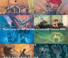 Harry Potter - Harry Potter Limited Edition Deluxe Book Cover Art Set - Mary GrandPre - World-Wide-Art.com