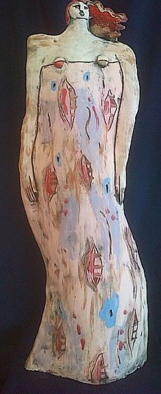 Pink Tall Lady  Earthenware  65cm  R3000 SOLD