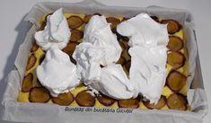 Prajitura cu prune(sau alte fructe) si bezea - Bunătăți din bucătăria Gicuței Waffles, Breakfast, Food, Morning Coffee, Essen, Waffle, Meals, Yemek, Eten