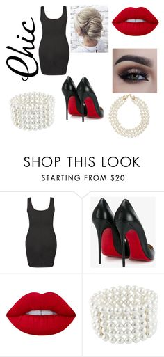 """""""Night On The Town"""" by cctmfashion on Polyvore featuring City Chic, Christian Louboutin, Lime Crime, Astoria, Chanel and plus size dresses"""