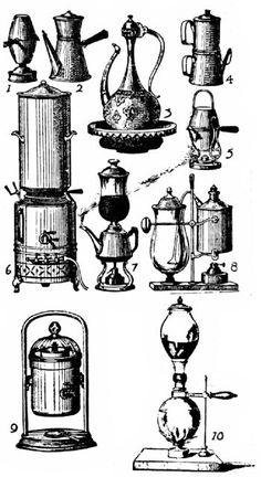 French Coffee Makers, Nineteenth Century. THE EVOLUTION OF COFFEE APPARATUS