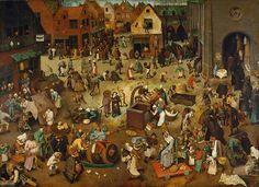 Pieter Brueghel l'Ancien - Le Combat de Carnaval contre Carême, Kunsthistorisches Museum Vienne