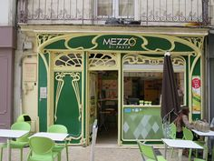 The vintage interior design is never out of style aren't we right? Art Nouveau Architecture, Art And Architecture, Architecture Details, Data Mining, Storefront Signs, Art Nouveau Furniture, Inspiration Art, Poitiers, Shops