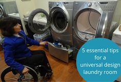 What type of washer and dryer should you have if you're in a wheelchair? How high should be off the ground? The answers to these (and other questions) are available by clicking through to this article.