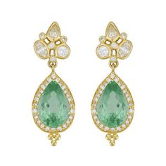 Temple St Clair Green Tourmaline And Diamond 18k Earrings 35 000 00 Jewelry