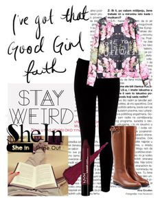 """""""Shein"""" by chap15906248 ❤ liked on Polyvore featuring Warehouse and Burberry"""