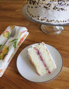 Lemon-Raspberry Champagne Cake - plentytude