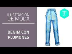 Cómo colorear jean con marcadores y lápices de color - Tutorial
