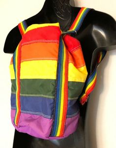Vintage Rainbow Stripe Insulated Backpack Bucket Bag Cooler LGBTQ Pride Straps #Unknown #Backpack Duffel Bag, Crossbody Bag, Tote Bag, Insulated Backpack, Cool Backpacks, Coolers, Gay Pride, Bucket Bag, Diaper Bag