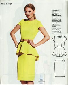 How to line the Burda peplum top; pattern available to purchase as pdf download.