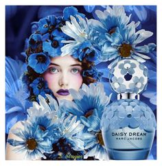 """""""TS Blue Daisies"""" by deborah-strozier ❤ liked on Polyvore featuring beauty and Marc Jacobs"""