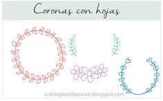 Diseño de blogs: Freebies: Dibujos Coronas de laurel