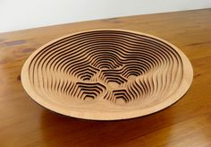 """Laser Cutting Designs & Ideas: Wooden Kitchen Accessories Thomas Pavitte: """"I've always wanted to get something laser cut. This is a bowl that I created out Plywood Art, Laser Cut Plywood, Laser Cutting, Laser Cut Fabric, Laser Cutter Ideas, Laser Cutter Projects, Laser Art, 3d Laser, D Lab"""