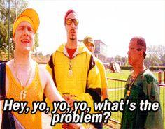 When someone insults your fandom << Martin Freeman in Ali G Sherlock Holmes Benedict, Sherlock Bbc, Benedict Cumberbatch, Martin Freeman Funny, Freeman Actor, Millwall, Benedict And Martin, Broadchurch, Acting Skills