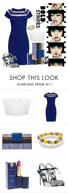 """""""Sexy Sailor Chic"""" by primadon ❤ liked on Polyvore featuring Anja, Prada, Rumour London, FOSSIL, Kim Rogers, Estée Lauder, Dolce&Gabbana and Accessorize"""