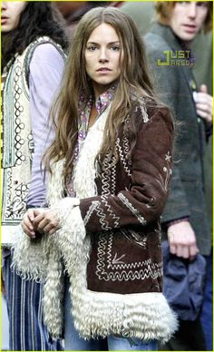 Related image Sienna Miller, Age Of Aquarius, Vivienne Westwood, Boho Outfits, Sequin Skirt, Celebs, Winter Coats, Skirts, How To Wear