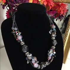 Multi-stone statement necklace Discounted Bundles ▪️Please use the offer feature  ▪️Ships within 24 hours ✈️ ▪️No tradesNo Paypal ▪️ Love the item but not the price?  Make an offer!  ▪️Questions?  Don't be shy!  Feel free to ask  ▪️Condition - NWOT  ▪️Size - One size  ▪️Material - Mixed  ▪️Description - Lustrous beaded necklace with a variety of stones, beads and silver tone accents. Jewelry Necklaces