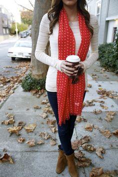 Jcrew scarf, sam edelman booties, eached roy long sleve #fall