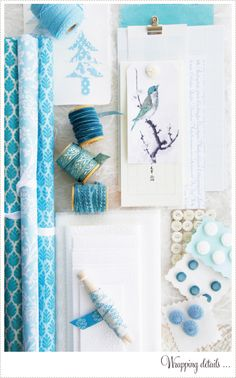 Add your own personal touches to gift wrapping :. via A Creative Mint