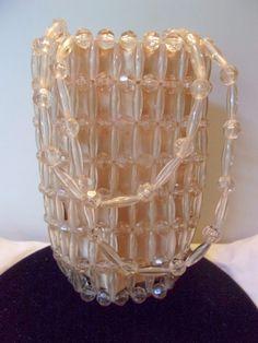 La Regale Purse Vintage Nude Beige Lucite Hand Bag Clutch Small Art Deco  #LaRegale #Clutch