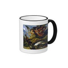 Mythology Ringer Mug  #Mythological #Mythology #Painting #Art #Vintage #Fashion #Coffee #Tea #Chai #Mug