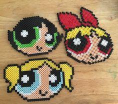 The Powerpuff Girls perler beads by mammaoftwins