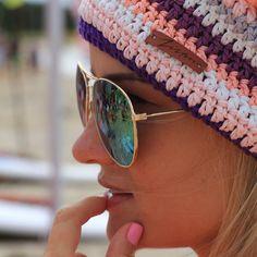 100% cotton handmade surf beanies #Zizterz #KnitZizterz #Surf #Girl #Beanie #Surfing #SurfHat #Sunglasses #Pink #Nailpolish