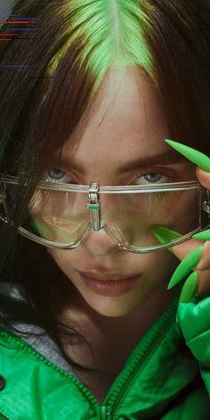 Elle, Billie Eilish, sunglasses wallpaper - b i l - Rachael Foreman Billie Eilish, Wallpaper Azul, Screen Wallpaper, Bts Wallpaper, Rihanna, Celebs, Celebrities, Scarlett Johansson, Music Artists