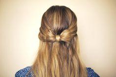 Come realizzare un fiocco con i capelli