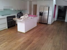 Oak floor ,fitted and finished with Osmo oil Terra