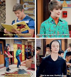 HOW CAN SOMEONE GO THROUGH PUBERTY IN JUST ONE SECOND. This scene made me mad. Like no that's not how it works. (Until he did the *HAH* thing before new years I was like ok ok hes still Farkle).