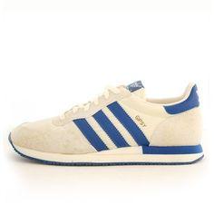 Detalles de Adidas HOMBRE Corredor Spzl Zapatillas Azul Blanco Spezial Trébol Retro Vintage