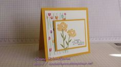 Stampin up 2014 occasions catalog painted petals stampset & painted blooms dsp. Card 1 of 3 in gift set.