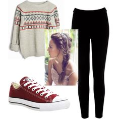 Lazy day by hlh14 on Polyvore featuring polyvore, fashion, style, Warehouse and Converse