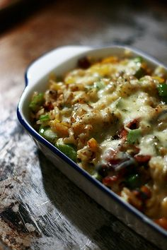 Baked rice with mushrooms, peppers, turkey bacon & cheese, Recipe by Mochachocolatarita - Petitchef Cooking Recipes, Healthy Recipes, Healthy Meals, Yummy Recipes, Yummy Food, Turkey Bacon, Bacon Bacon, Thyme Recipes, Food Plus