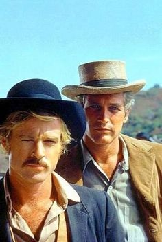 "Robert Redford and Paul Newman ""Butch Cassidy and the Sundance Kid"" 1969 by…"
